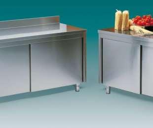 Tavoli armadio neutri e caldi in acciaio inox